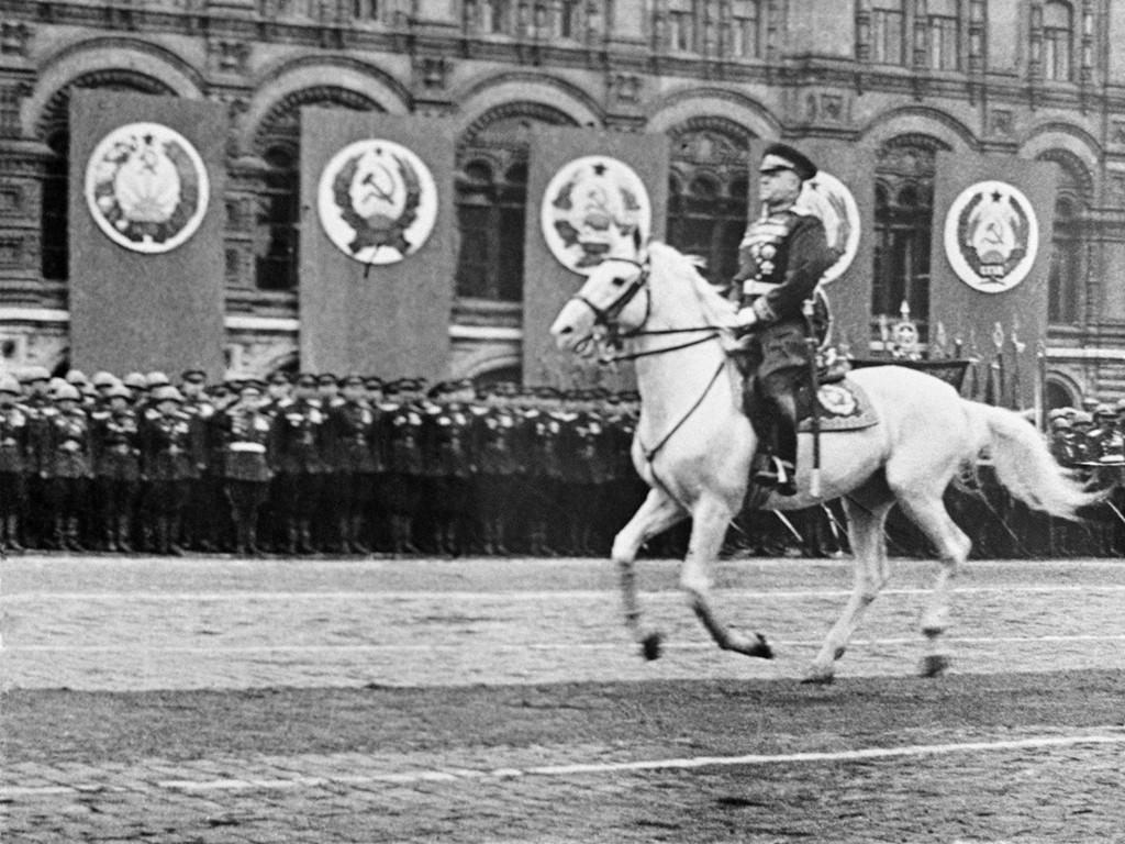 Парад Победы,  Москва 22 июня 1945 г.