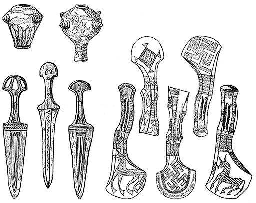 Бронзовые изделия изумительной красоты и изящества. Кобанская / иронская культура 1 тыс. до н. э.