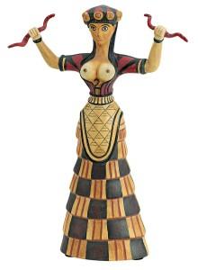 Критская богиня, контролирующая две жизненные энергии